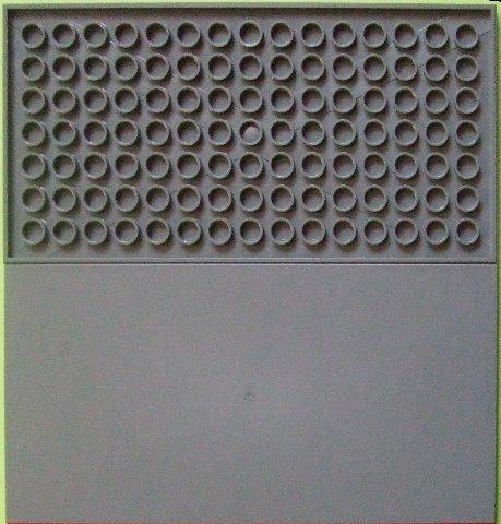 90498 Lego Fliese 8 x 16 mit Knöpfen an der gesamten Unterseite Dunkelgrau