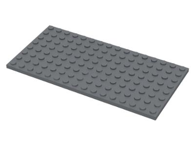 Plate 1x8 NEUF NEW gris foncé 4 x LEGO 3460 Plaque dark bluish grey gray