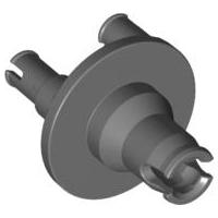 LEGO 92909 Technic Dark Bluish Grey Steering Wheel Hub 3 Pin Round