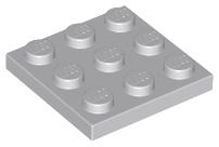 x 2 grey LEGO PART 11212 Plate 3 x 3