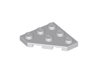 Plate 4 x 4 Cut Corner 30 NEW LEGO Black Wedge
