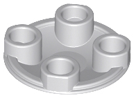 New LEGO Lot of 8 Light Bluish Gray 2x2 Round Boat Plates