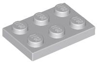 LEGO Lot of 25 Light Bluish Gray 2x3 Plates