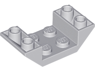 Lego 2 Dark Bluish Gray 4x2 Double Inverted brick block Slopes with cut out NEW