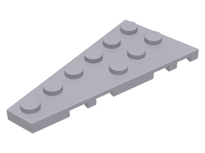 LEGO Lot of 8 Pair Light Bluish Gray 6x3 Wedge Plate Pieces