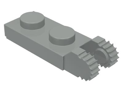 Charnière hinge plate lock 1x2 GRIS F//D GREY 4210883-44301 Lot x6 Lego