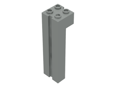 Lego Brick, Modified 2 x 2 x 6 with Groove