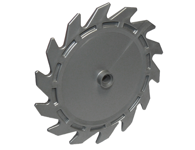 LEGO® Dark Gray Round Saw Blade 9 x 9 Pin Hole /& Teeth Design ID 61403