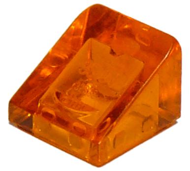 35 NEW LEGO Slope 30 1 x 1 x 2//3 trans orange