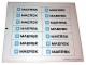 Part No: 10155stk01  Name: Sticker Sheet for Set 10155 - Sheet 1, White Container Sticker Sheet (57339/4585633)