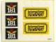 Part No: 181stk01  Name: Sticker for Set 181 - (003437)