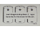 Part No: 192215  Name: Battery Information Sheet (Set 744) - Battery Type Specified