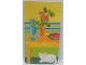 Part No: 3149cdb01  Name: Paper, Cardboard Wallpaper, Cat and Mountain on Opposite Sides (Set 3149)