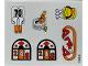 Part No: 3670.1stk01  Name: Sticker Sheet for Set 3670-1 - (195835)