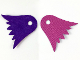 Part No: 38301  Name: Minifigure, Cape Cloth, Scalloped, Dark Purple Side / Magenta Side - Traditional Starched Fabric