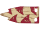 Part No: 39019  Name: Cloth Flag 6.5 x 4 Wave with Dark Red Triangles and Dark Tan Lines on Tan Background Pattern