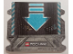 Part No: 42059cdb01  Name: Paper, Cardboard Ramp with Medium Azure Arrow and Chevrons Pattern for Set 42059 - (28896/6170247)