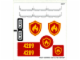 Part No: 4209stk01  Name: Sticker Sheet for Set 4209 - (99227/4649800)