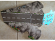 Part No: 5004404cdb01  Name: Paper, Cardboard Ramp with Tunnel, Checkered Startline, White Stripes and Tire Tracks Pattern