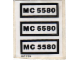 Part No: 5580stk01  Name: Sticker for Set 5580 - (197925)