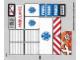 Part No: 60023stk02b  Name: Sticker Sheet for Set 60023 - Sheet 2 - Solid Color Background Version - (16465/6061477)