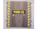 Part No: 61766  Name: Plastic Ramp Cover with Yellow Danger Stripes and 'WARNING DO NOT ENTER' Pattern (8491)