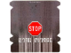 Part No: 61767  Name: Plastic Ramp Cover with Stop Sign and 'ROAD CLOSED' Pattern (8492)