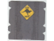 Part No: 61768  Name: Plastic Ramp Cover with Tire Tracks and 'JUMP AHEAD' Kangaroo Sign Pattern (8490)