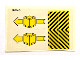 Part No: 6361stk01a  Name: Sticker Sheet for Set 6361, Single Arrow - (190145)
