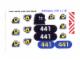 Part No: 6441stk01  Name: Sticker Sheet for Set 6441 - Sheet 1 (71449/4106706)