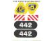 Part No: 6442stk01  Name: Sticker Sheet for Set 6442 - Sheet 1 (71446/4106603)