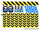 Part No: 6575stk02  Name: Sticker Sheet for Set 6575 - Sheet 2, Danger Stripes (72637/4118676)