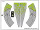 Part No: 76040stk01b  Name: Sticker for Set 76040 - Solid Color Background Version - (20248/6104011)