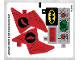 Part No: 76055stk01b  Name: Sticker Sheet for Set 76055 - North American Version - (27073/6155183)