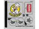 Part No: 76108stk02  Name: Sticker for Set 76108 - Sheet 1 (38535/6225669)
