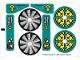 Part No: 8269stk01  Name: Sticker for Set 8269 - Sheet 1 (72739/4119245)
