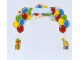 Part No: 850791cdb01  Name: Paper, Cardboard Arch for Birthday Set 850791 (formerly foamarch02)