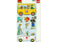 Part No: 9221comm  Name: Paper, Duplo Mosaic Picture Puzzle Key Card from Set 9221 - Community