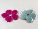 Part No: Clikits301  Name: Clikits Icon Accent, Cloth Puffy Flower 5 Petals 5 1/2 x 5 1/2