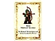 Part No: ELF1insert  Name: Paper, Card Insert Mirkwood Elf Archer (ELF-1)