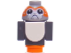 Part No: Porg03  Name: Porg, Star Wars with Dark Bluish Gray Wings and Black Tail
