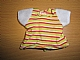 Part No: bb0250pb04  Name: Duplo Doll Cloth T-Shirt with Horizontal Stripes and White Sleeves Pattern