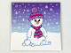 Part No: clikits076pb22  Name: Clikits Paper, Insert 4 x 4 for Frame clikits011, Snowman