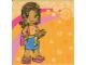 Part No: clikits130pb08  Name: Clikits Paper, Insert 10 x 10 for Frame clikits069, 'Daisy' holding a Daisy