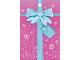 Part No: clikits208pb04  Name: Clikits Paper, Party Favor Bag with Snowflakes, Ribbon and Bow Pattern