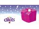 Part No: clikits255pb01  Name: Clikits Paper, Gift Tag, Dark Pink Package with Magenta Ribbon