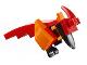 Part No: fawkes01  Name: Phoenix (HP Fawkes) - Brick Built