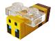 Part No: minebee02  Name: Minecraft Bee, Passive - Brick Built