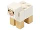 Part No: minesheep07  Name: Minecraft Sheep, White, Brick 2 x 2 on Back - Brick Built