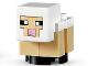 Part No: minesheep08  Name: Minecraft Sheep, Lamb, White - Brick Built